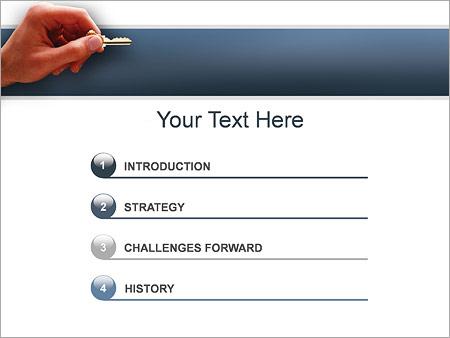 Шаблон для презентации Ключ от квартиры - Третий слайд