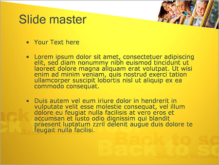 Шаблон PowerPoint Дети и школьный автобус - Второй слайд