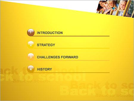 Шаблон для презентации Дети и школьный автобус - Третий слайд