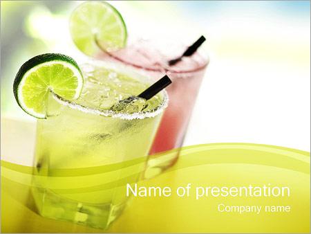 Шаблон презентации Два коктейли с лаймом - Титульный слайд