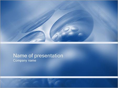 Шаблон презентации Круглые ячейки - Титульный слайд