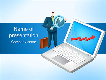 Шаблон презентации Рост бизнеса и активов - Титульный слайд