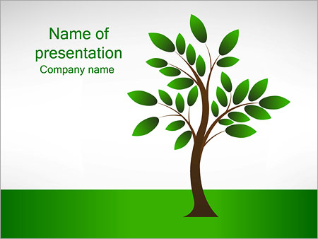 Шаблон презентации Дерево росток - Титульный слайд