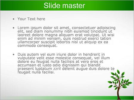 Шаблон PowerPoint Дерево росток - Второй слайд