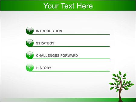 Шаблон для презентации Дерево росток - Третий слайд