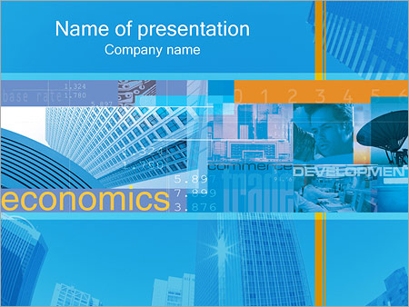 Шаблон презентации Экономика - Титульный слайд