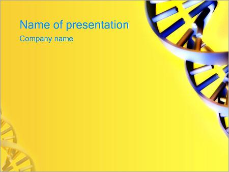 Шаблон презентации Спираль ДНК - Титульный слайд