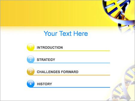 Шаблон для презентации Спираль ДНК - Третий слайд