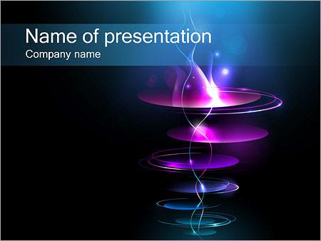 Шаблон презентации Плоские кольца - Титульный слайд