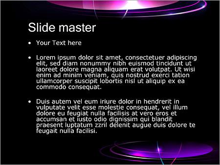Шаблон PowerPoint Плоские кольца - Второй слайд