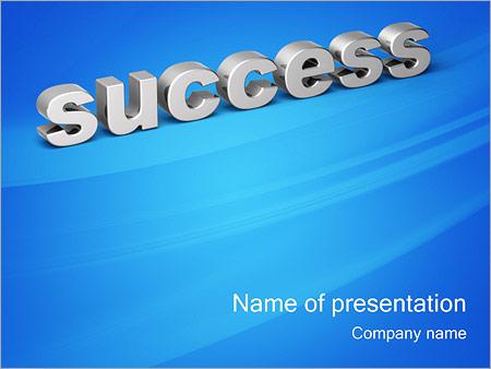 Шаблон презентации Успех - success - Титульный слайд