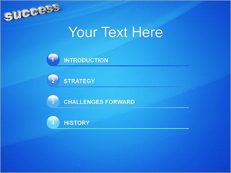 Шаблон для презентации Успех - success - Третий слайд