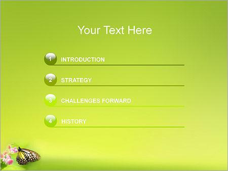 Шаблон для презентации Бабочка на цветке - Третий слайд