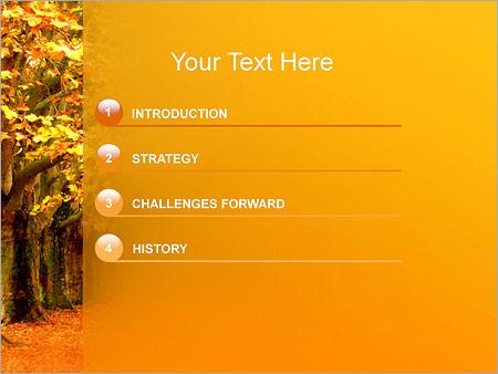 Шаблон для презентации Осень в парке - Третий слайд