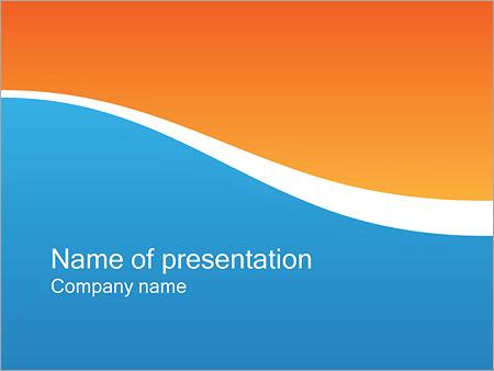 Шаблон презентации Две волны - Титульный слайд