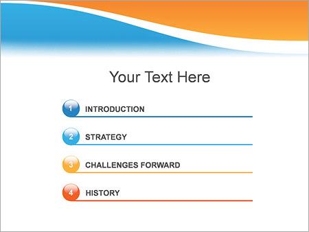 Шаблон для презентации Две волны - Третий слайд
