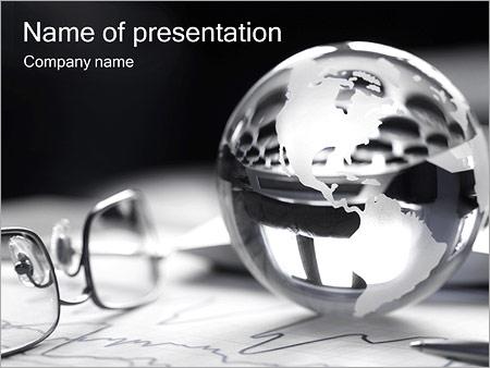 Шаблон презентации Серебряный земной шар - Титульный слайд