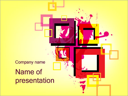 Шаблон презентации Толстые квадратные рамки - Титульный слайд