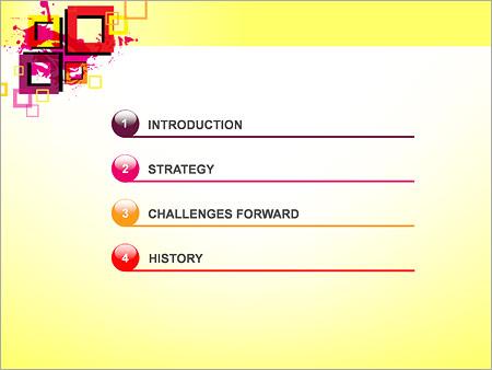 Шаблон для презентации Толстые квадратные рамки - Третий слайд