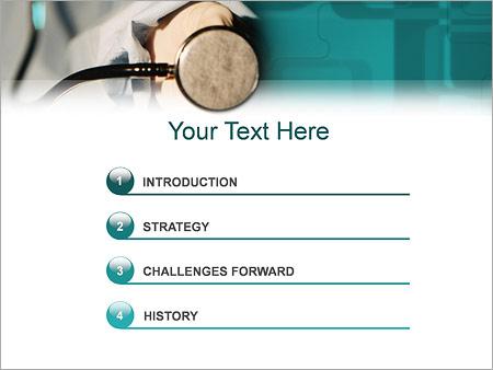 Шаблон для презентации Доктор и стетоскоп - Третий слайд