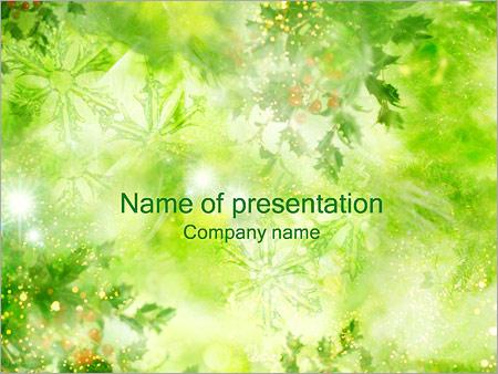 Шаблон презентации Листья и снежинки - Титульный слайд