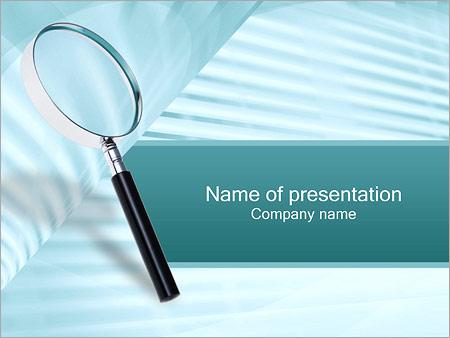 Шаблон презентации Увеличительная лупа - Титульный слайд