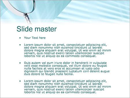 Шаблон PowerPoint Увеличительная лупа - Второй слайд