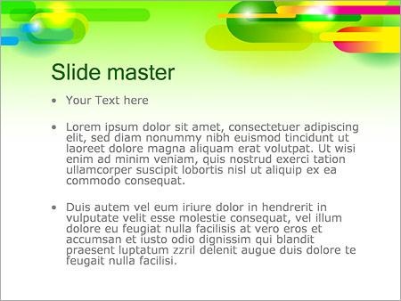 Шаблон PowerPoint Абстрактные разноцветные капсулы - Второй слайд