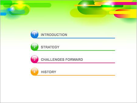 Шаблон для презентации Абстрактные разноцветные капсулы - Третий слайд