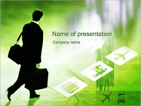 Шаблон презентации Бизнес командировка - Титульный слайд