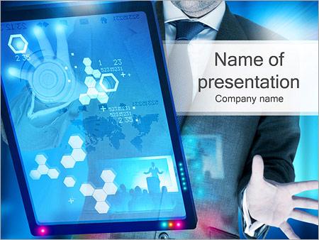 Шаблон презентации Планшетный компьютер - Титульный слайд