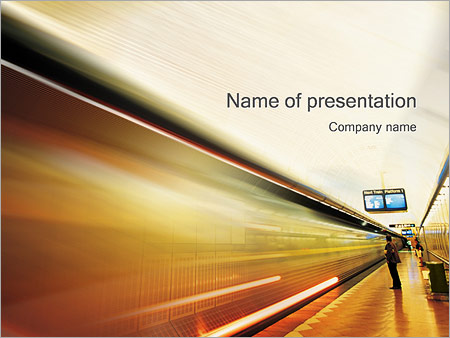 Шаблон презентации Станция метро - Титульный слайд