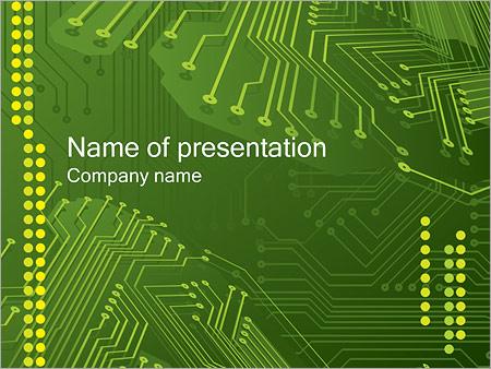 Шаблон презентации Микросхема - Титульный слайд