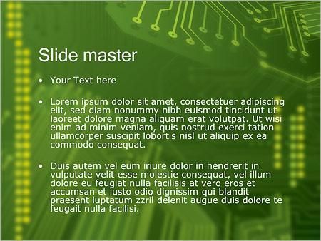 Шаблон PowerPoint Микросхема - Второй слайд