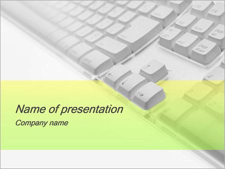 Шаблон презентации Клавиатура - Титульный слайд