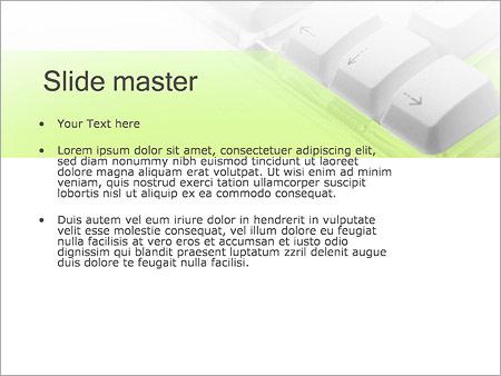 Шаблон PowerPoint Клавиатура - Второй слайд