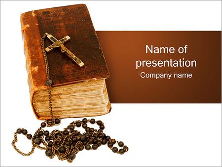 Шаблон презентации Библия с крестом - Титульный слайд