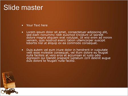 Шаблон PowerPoint Библия с крестом - Второй слайд