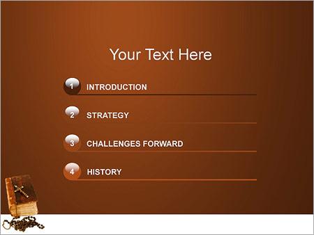 Шаблон для презентации Библия с крестом - Третий слайд