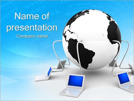 Шаблон презентации Компьютерная сеть - Титульный слайд