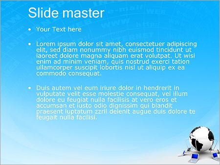 Шаблон PowerPoint Компьютерная сеть - Второй слайд