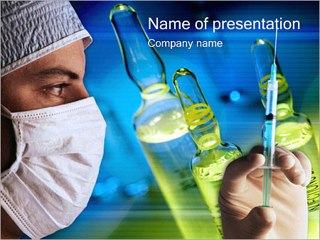 Шаблон презентации Врач со шприцем - Титульный слайд