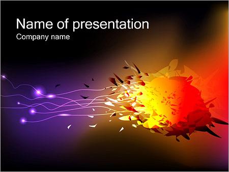 Шаблон презентации Разноцветный взрыв - Титульный слайд