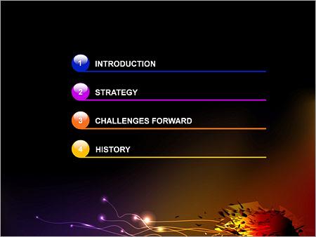 Шаблон для презентации Разноцветный взрыв - Третий слайд
