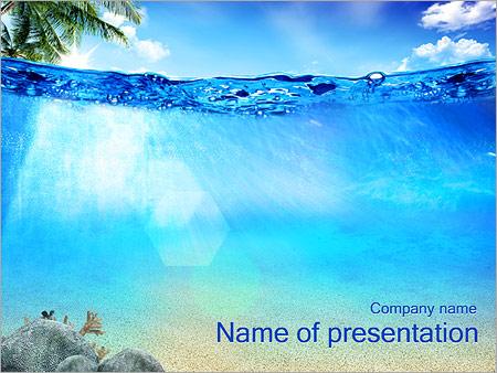 Шаблон презентации Голубая лагуна - Титульный слайд