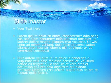 Шаблон PowerPoint Голубая лагуна - Второй слайд