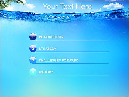 Шаблон для презентации Голубая лагуна - Третий слайд