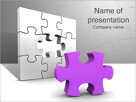 Шаблон презентации Сиреневый паззл - Титульный слайд