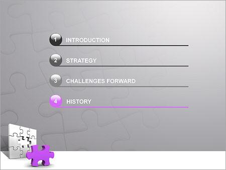 Шаблон для презентации Сиреневый паззл - Третий слайд