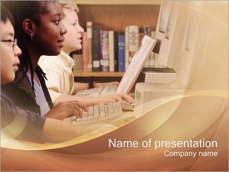Шаблон презентации Класс информатики - Титульный слайд